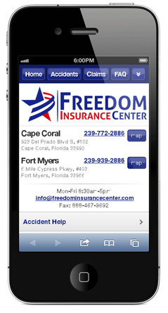 m.freedominsurancecenter.com website preview